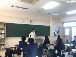 磐城緑蔭高校での講演
