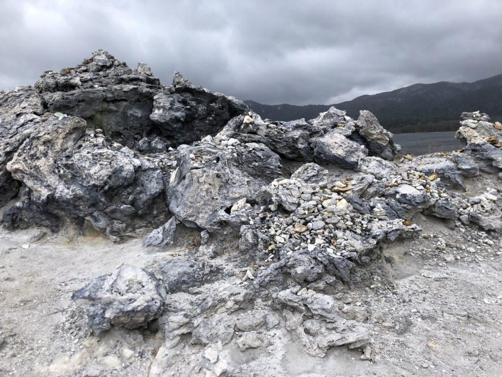 恐山の奇岩